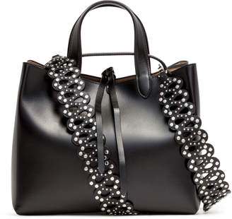 Alaia Black Leather Tote Bag