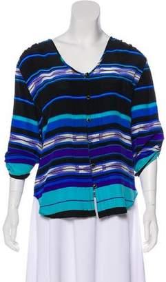 Yumi Kim Silk Long Sleeve Blouse