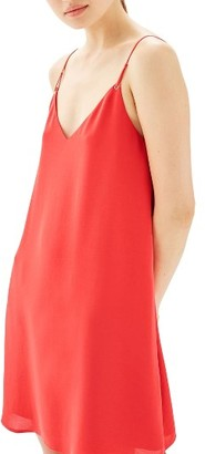 Women's Topshop Hammered Trapeze Slipdress $55 thestylecure.com