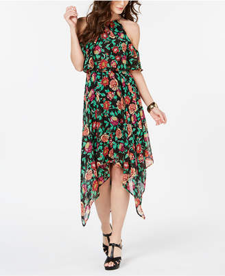 7b1c4dd9539 Thalia Sodi Printed Chain-Neck Off-The-Shoulder Maxi Dress