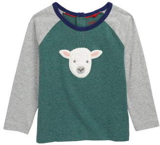 Boden Mini Embroidered Raglan Shirt