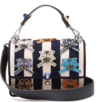 Kan I embellished canvas shoulder bag
