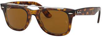 Ray-Ban Men's RB4540 Wayfarer Double-Bridge Sunglasses - Polarized