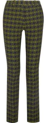 Victoria Beckham Stretch-Jacquard Slim-Leg Pants