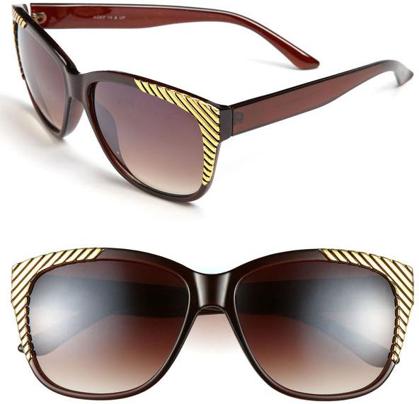 Fantas-Eyes FE NY Gold Tipped Sunglasses