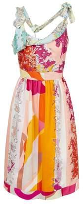 Emilio Pucci Floral Print Silk Dress