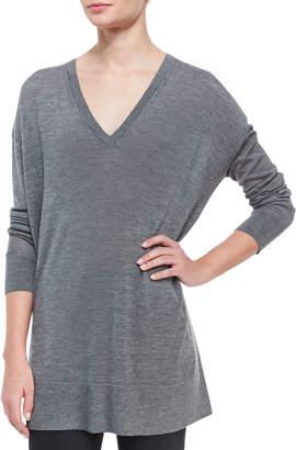 The Row Amherst Long-Sleeve Oversized V-Neck Sweater