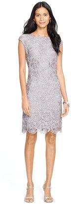 Lauren Ralph Lauren Lace Sheath Dress $184 thestylecure.com