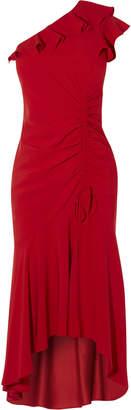Karen Millen Peplum Hem One-Shoulder Dress