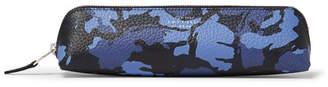 Smythson Burlington Camouflage-Print Full-Grain Leather Pencil Case