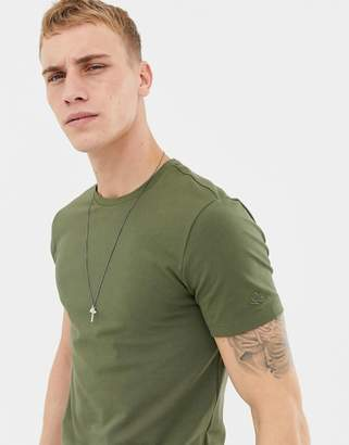 Benetton muscle t-shirt with stretch in khaki