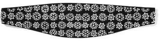 Saint Laurent Embellished Silk Waist Belt - Black