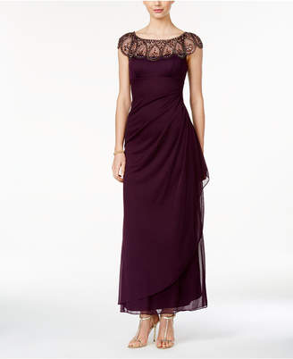 Xscape Evenings Petite Embellished Illusion Gown