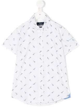 Harmont & Blaine Junior dog print shortsleeved shirt
