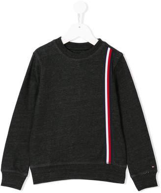 Tommy Hilfiger Junior stripe applique sweatshirt