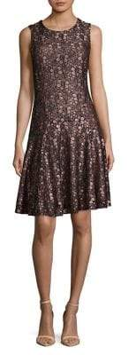 Tommy Hilfiger Lace Sleeveless Fit-and-Flare Dress