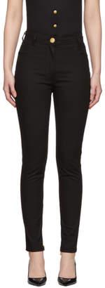 Balmain Black High-Waist Jeans