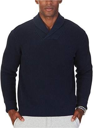 Nautica Men's Ribbed Shawl Collar Sweater
