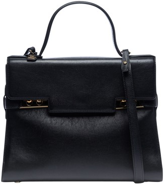 Delvaux Tempete Black Leather Handbags
