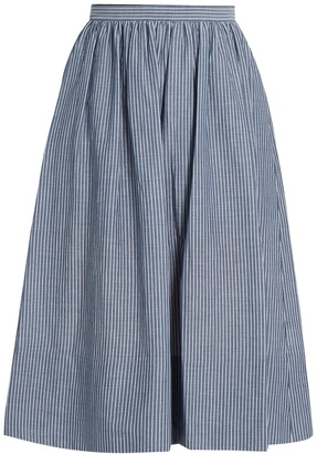 VINCE Striped cotton skirt $275 thestylecure.com