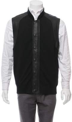 Alexander Wang Leather-Accented Zip-Up Vest