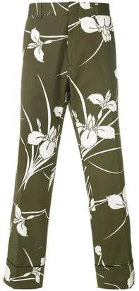 No.21 floral print cropped trousers