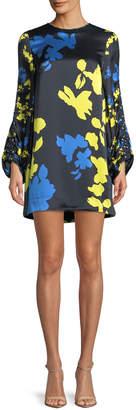 Tanya Taylor Florence Camo Printed Silk Mini Dress