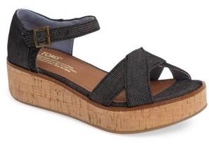 Women's Toms Harper Platform Sandal $78.95 thestylecure.com