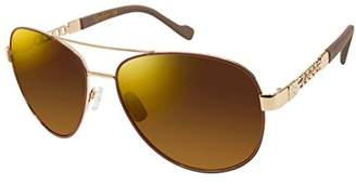 Jessica Simpson Women's J5359 Gldnd Non-Polarized Iridium Aviator Sunglasses