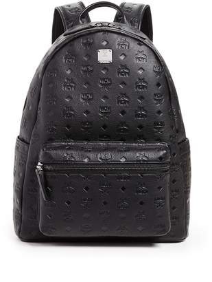 MCM Ottomar Monogrammed Leather Medium Backpack