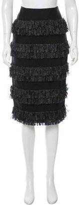Whistles Fringe-Trimmed Pencil Skirt w/ Tags $125 thestylecure.com