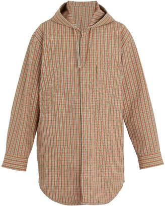 Acne Studios Merves hooded checked jacket