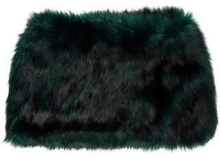 Dries Van Noten Faux Fur Infinity Shawl