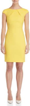 Les Copains Yellow Cap Sleeve Sheath Dress