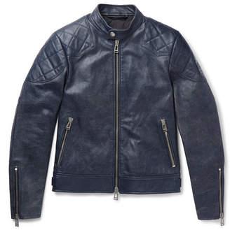 Belstaff Outlaw 2.0 Burnished-leather Blouson Jacket