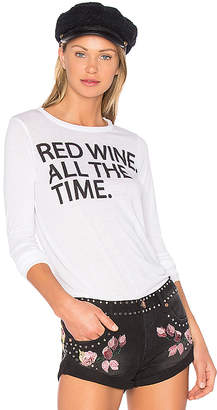 Chaser Red Wine Time Long Sleeve Tee in White $68 thestylecure.com