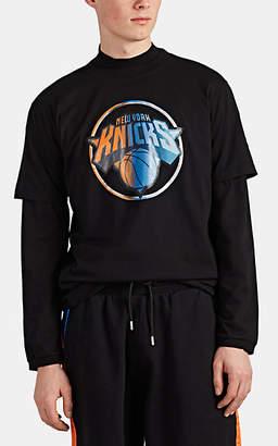 Marcelo Burlon County of Milan Men's NY KnicksTM Cotton Jersey T-Shirt - Black
