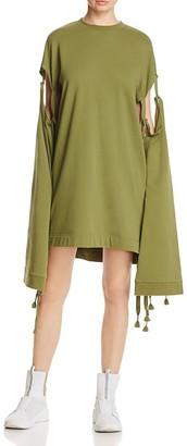 FENTY Puma x Rihanna Tie-Sleeve Sweatshirt Dress $160 thestylecure.com