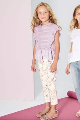 Next Girls Lilac Ruffle Blouse (3-16yrs)