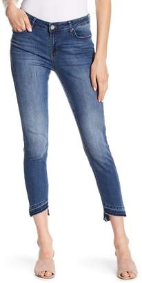 William Rast Skinny Ankle Asymmetrical Hem Jeans