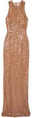 Galvan Metallic Sequined Tulle Gown