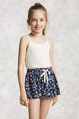 Forever 21 Girls Floral Shorts (Kids)