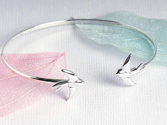 Grace & Valour Swallow Bangle On A Personalised Gift Card