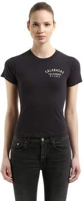 Yeezy Slim Calabasas Printed Cropped T-Shirt