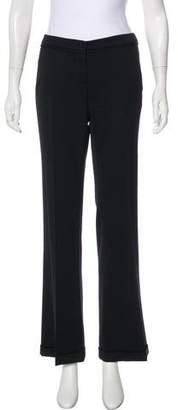 Emporio Armani Low-Rise Wide-Leg Pants