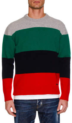DSQUARED2 Men's Multicolor Wool Pullover Sweater