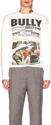 Enfants Riches Deprimes Long Sleeve Bully Print Tee in Cream | FWRD