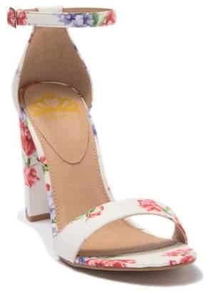 Fergalicious Quinn Floral Block Heel Sandal