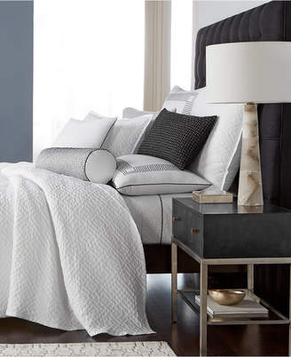 Hotel Collection Greek Key Cotton Quilted Twin Coverlet, Created for Macy's