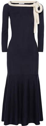 Oscar de la Renta - Wool Midi Dress - Midnight blue